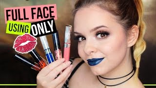 Full Face Using ONLY Liquid Lipsticks Challenge - Makeup NUR mit Liquid Lipsticks?!