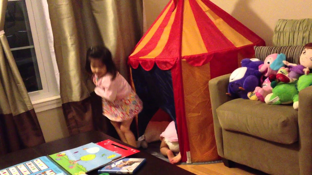 5 28 12 Playing in Ikea Circus Tent & 5 28 12 Playing in Ikea Circus Tent - YouTube