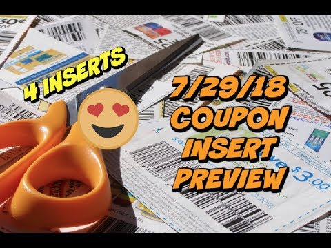 7/29/28 COUPON INSERT PREVIEW | How many papers to get & HOT printable coupons!