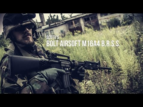 SCDTV BOLT AIRSOFT M16A4 BRSS AIRSOFT REVIEW