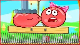 ИГРАЕМ ЗА МИНИ БОССА КВАДРАТА в игре красный шарик  для детей про New Red Ball 4