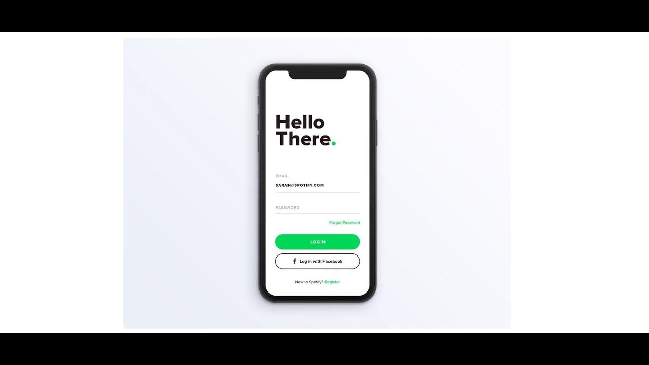 Flutter UI - Login Page UI1.0