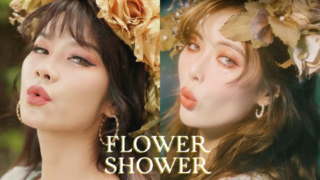 ลองทำแบบ MV FLOWER SHOWER - HYUNA ด้วยตัวเอง
