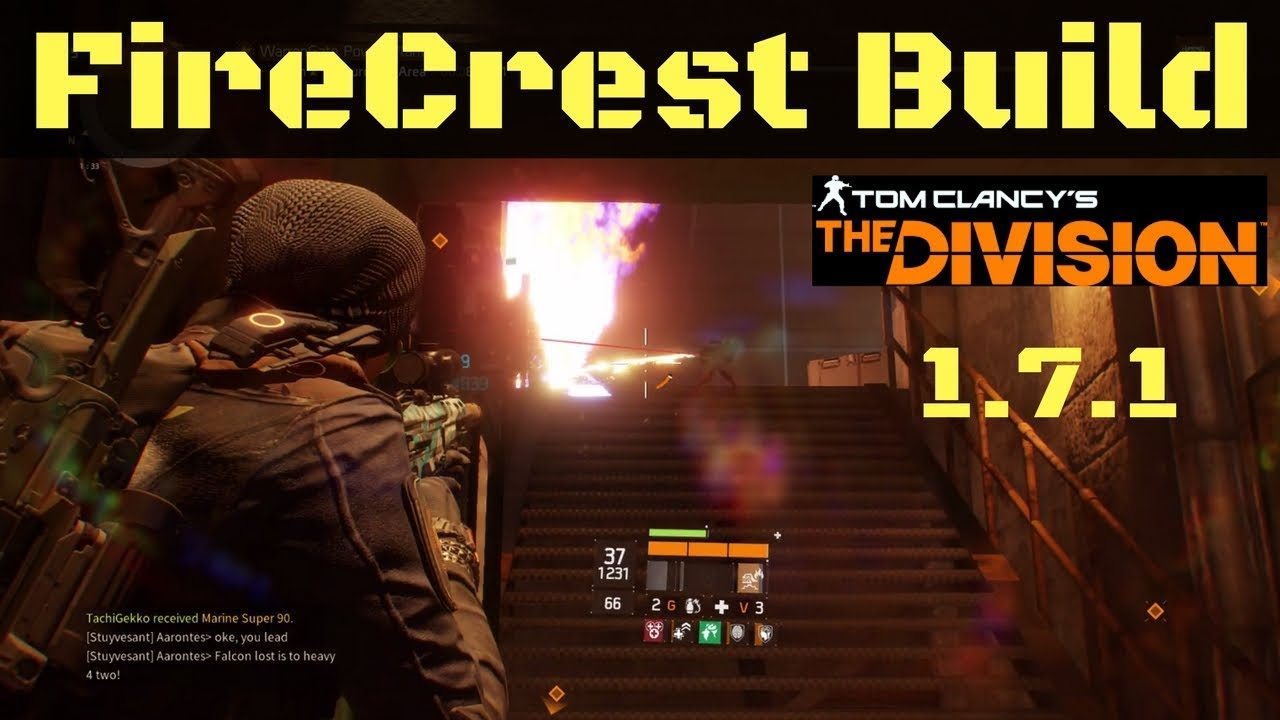 The Division 1 7 1 Best Firecrest Build Ninja Mdr Youtube