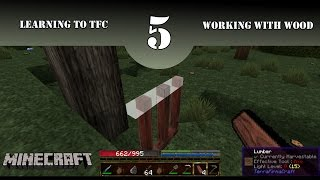 Learning to TFC - A TerraFirmaCraft Tutorial Series - Episode 5 - Working with Wood