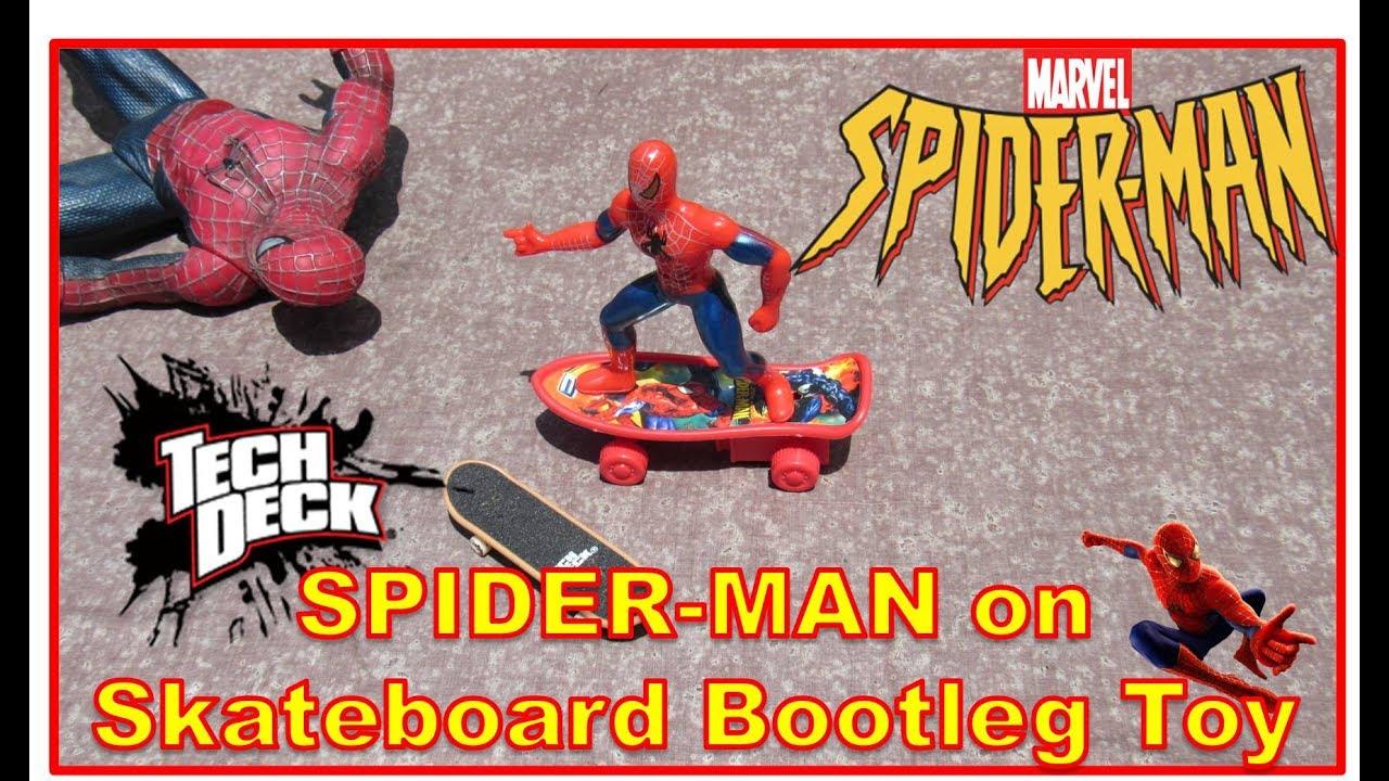 SPIDER MAN TECH DECK Bootleg Toy Review