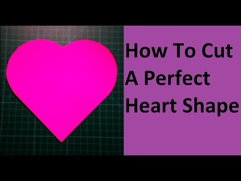 How To Cut A Heart Shape | How To Make A Perfect Paper Heart Without Folding | Valentine's Craft