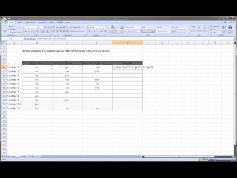 Excel OR function - beginner