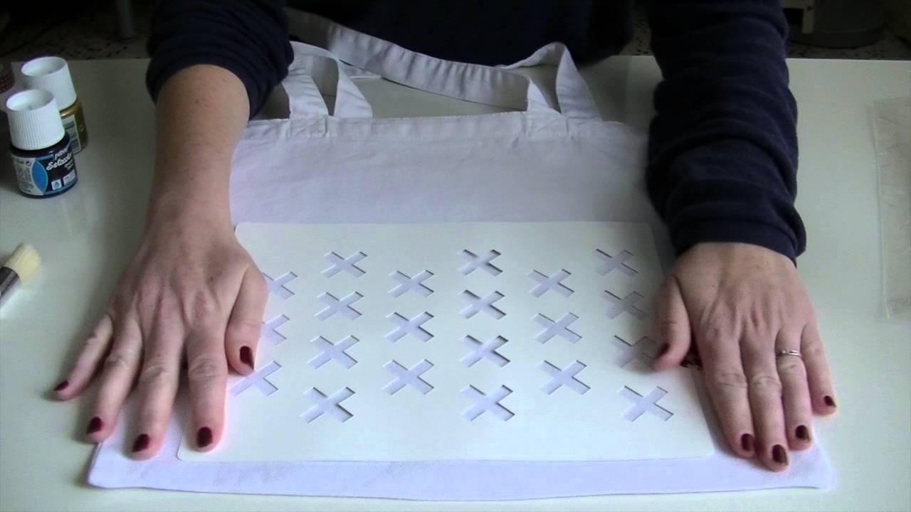 pochoir tissu