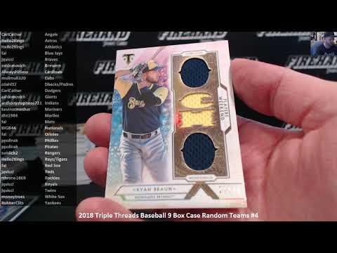 2018 Triple Threads Baseball 9 Box Case Random Teams #4 ~ 11/7/18