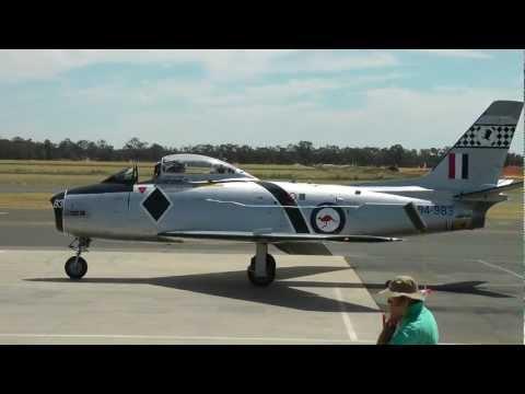 CA-27 Mk 32 (F-86) Sabre Jet Flying at Temora Nov 2011