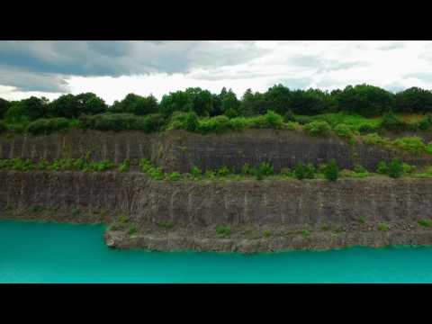 Quarry with Pure Blue Water from a Drone.