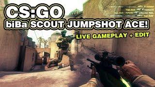 CS:GO biBa scout jumpshot ace - live gameplay + edit