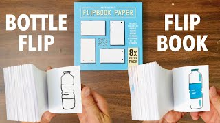 Making ANOTHER FLIPBOOK with the ANDYMATION FLIPBOOK KIT   |   THE BOTTLE   |   EmchKidsVids