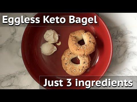 3 ingredient Keto Bagel | Eggless & Gluten free | Perfect Breakfast Idea