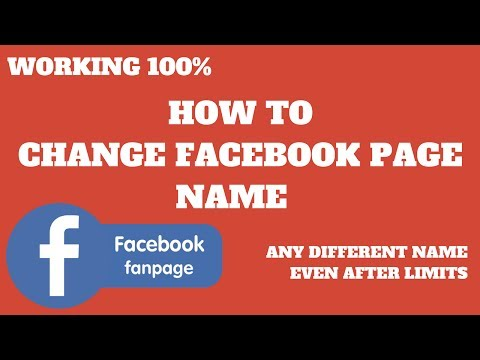 How To Step By Step Instructions To Change Facebook Fan Page Name Into Any Name Like