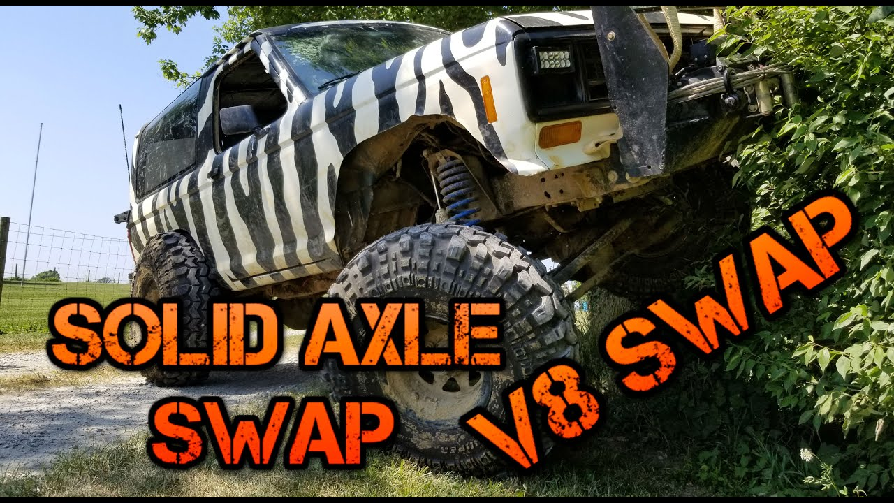 1988 Ford Bronco 2 Solid Axle Swap and V8 Swap Introduction