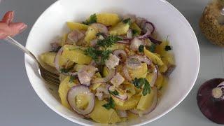 """Рецепт простого картофельного салата, британцы называют его """"Пикадилли"""". Все дело в заправке."""