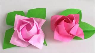 【折り紙】[難]×2 カワサキローズ『開花』を折ってみた Kawasaki Rose