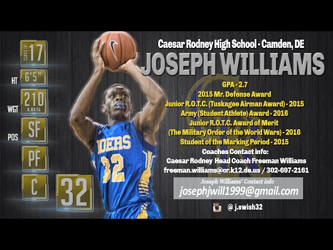 Joseph Williams 2016-17 Highlights, Caesar Rodney High School