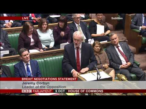 Labour Leader Jeremy Corbyn responds to the Prime Minister's Brexit Statement 09/10/17