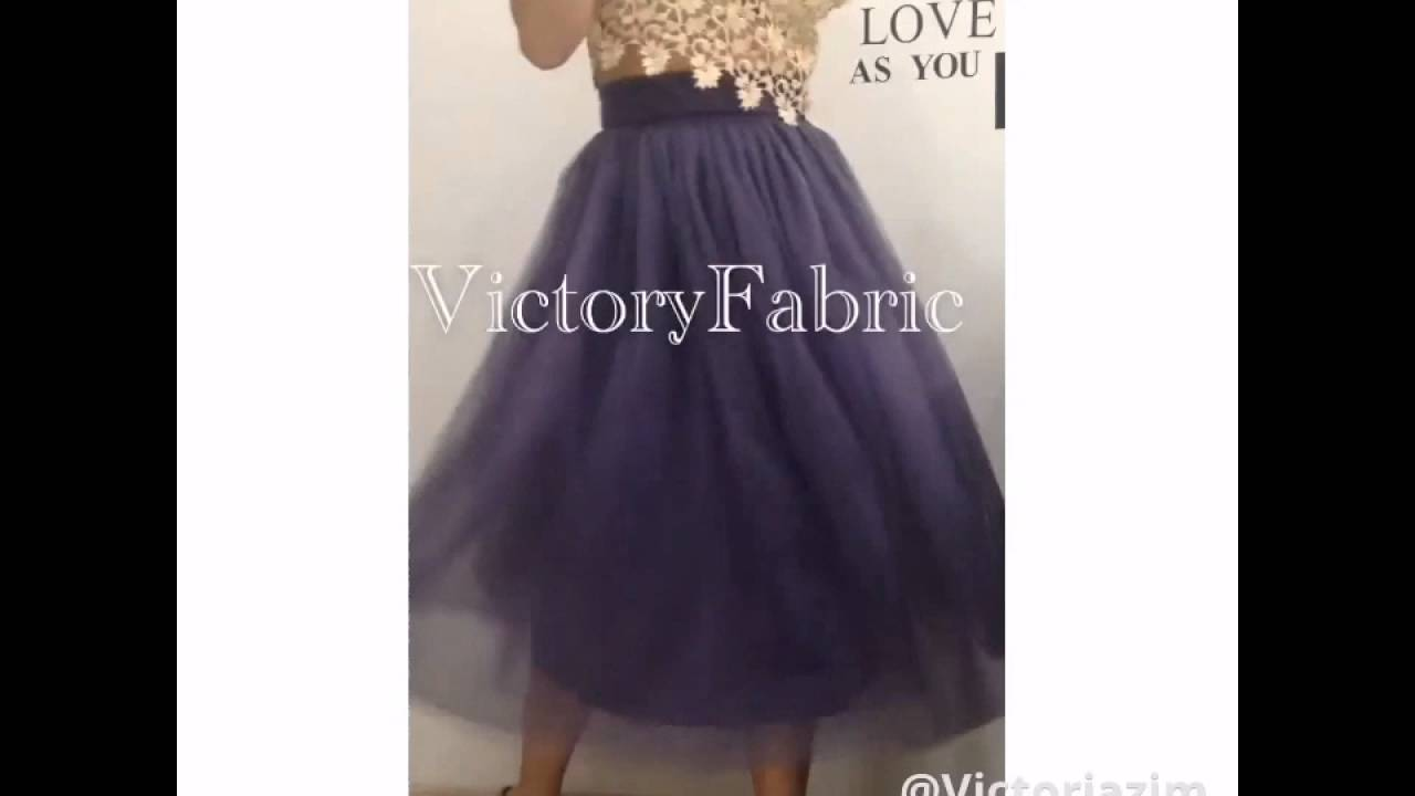 Юбка пачка из Фатина VictoryFabric - YouTube