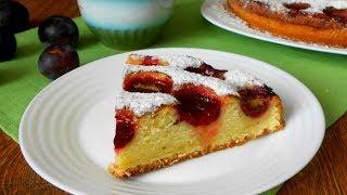 Вот он! Самый простой и безумно вкусный пирог со сливами.