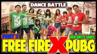 FREE FIRE VS PUBG BATTLE DANCE PART 2 - CHOREOGRAPHY BY DIEGO TAKUPAZ - EMOTE DANCE - TIK TOK