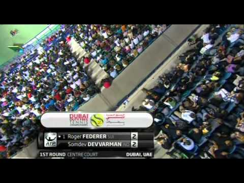 Somdev Devvarman nice drop against Federer