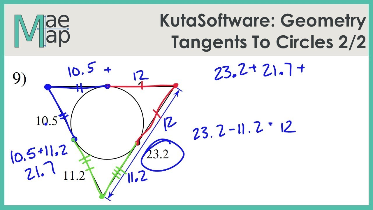 KutaSoftware: Geometry- Tangents To Circles Part 2