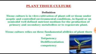 What is the importance of Tissue Culture? (in Hindi