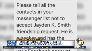 Jayden K. Smith hacking Facebook?