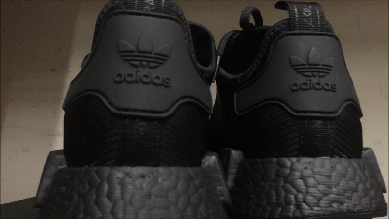9b54b3afe4872 EXCLUSIVE) ADIDAS NMD R1 BLACK REFLECTIVE ON FOOT LOOK - YouTube