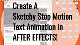 Sketchy Stop Motion Text Animation | After Effects Tutorial