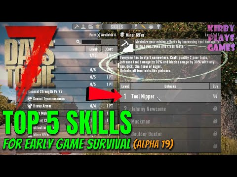 top-5-starting-skills-for-7-days-to-die!-(alpha-19)