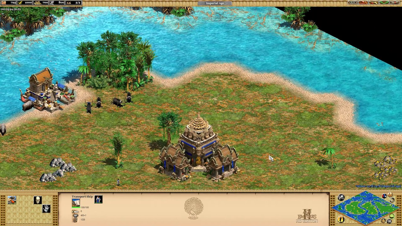 Age of Empires II: Rise Of The Rajas - #9 Pacific Islands - Standard Map
