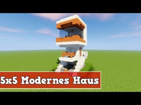 Wie baut man ein kleines Modernes Haus in Minecraft | Minecraft Modernes Haus bauen deutsch