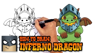 How to Draw Inferno Dragon | Clash Royale