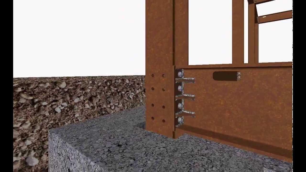Struttura intelaiata in acciaio corten su fondazioni in c for Pilastri anteriori per la casa