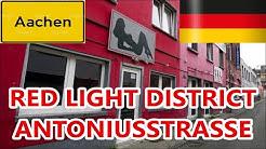 ANTONIUSSTRASSE Red Light District in Aachen Germany (Rosse buurt Antoniusstraat Aken, Puff)