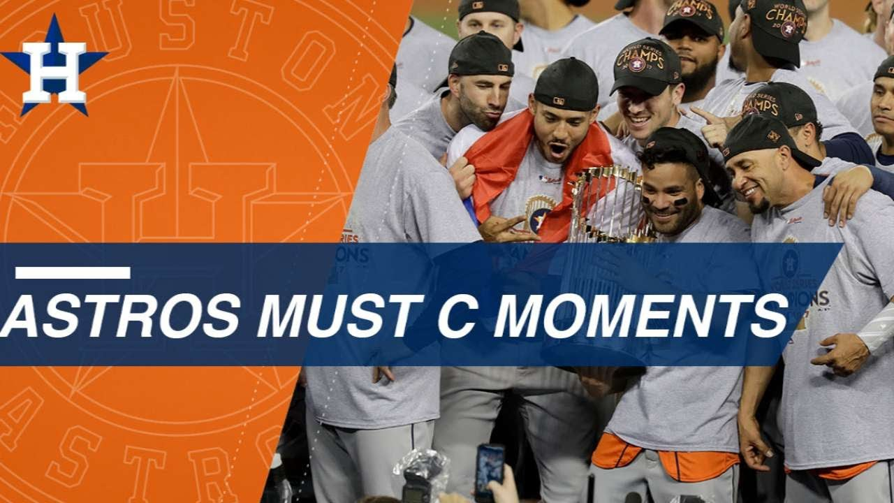 new product 392d8 b7538 Must C  Top Moments of Astros  2017 title run. MLB