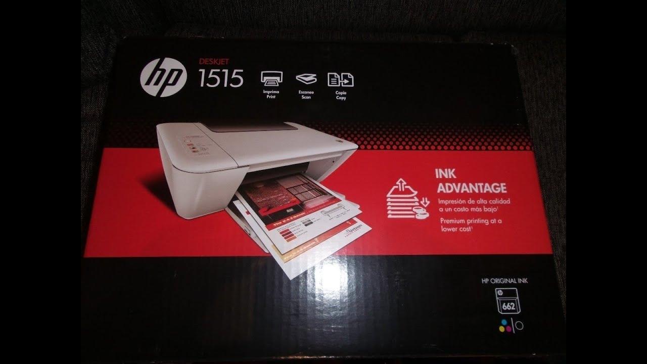 Unboxing Impresora Multi Funcional Hp Deskjet 1515 Youtube
