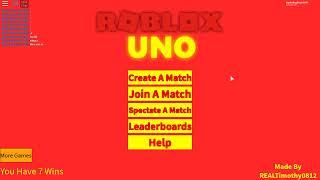 Playing ROBLOX Uno ew