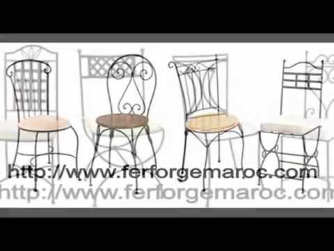 chaise fer forg chaise en fer forg youtube. Black Bedroom Furniture Sets. Home Design Ideas