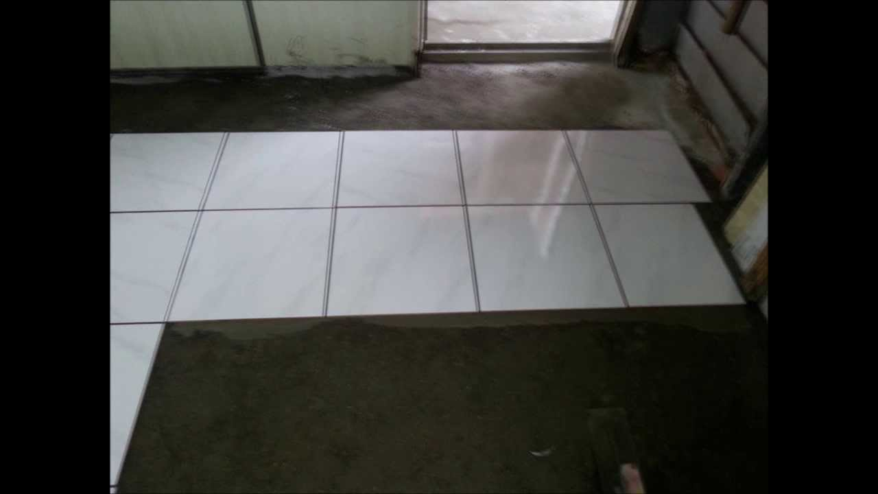 Floor Tile Installation Process With Sloping Plane Youtube