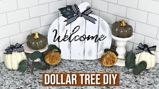 Dollar Tree FALL DIY ! | Neutral Farmhouse 2018