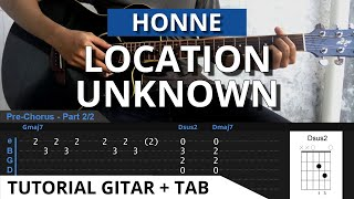 Gambar cover (TAB) Tutorial Gitar Location Unknown - Honne Versi Acoustic Petikan Gitar