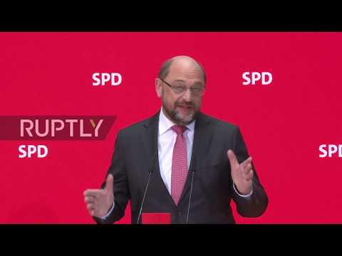 Germany: SDP leader Schulz announces 'reconfiguration' of his party