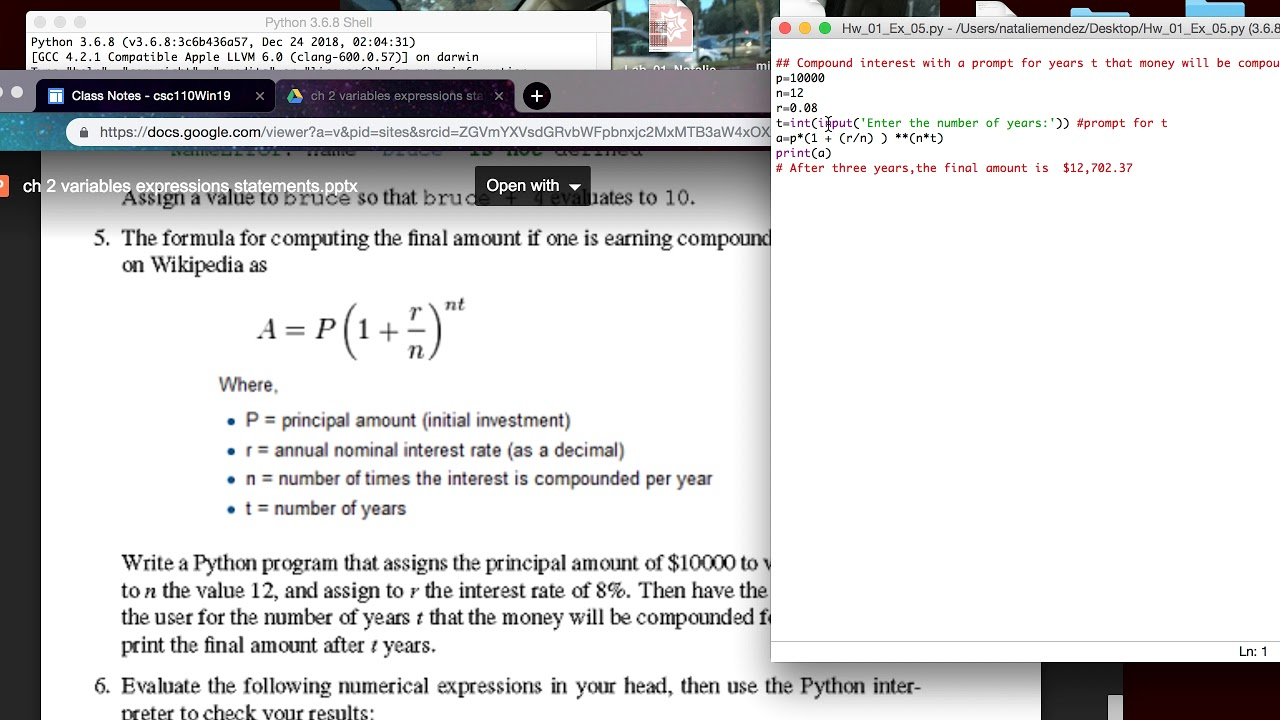 Coumpound Interest Python