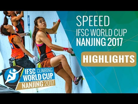 IFSC Climbing World Cup Nanjing 2017 - Speed Highlights